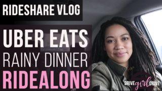 Uber Eats Rainy Dinner Ridealong – Rideshare Vlog