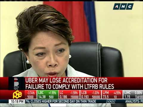 Uber may lose accreditation for failure to comply with LTFRB rules