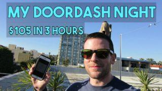 DoorDash $30/Hour, $75 In 2.5 Hours  Winter Monday In L.A.