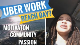 UBER VLOG: WORK DAY OR BEACH DAY?