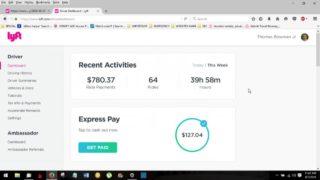 Video 1/150 Hertz_Lyft_Denver (day 17) Sunday 3rd week review power driver bonus acheived