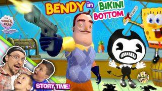 HELLO NEIGHBOR ALPHA 4! Simon Says Game? (Pt 1) Bendy Ink Machine in Basement? + FGTEEV Elevator 2.0