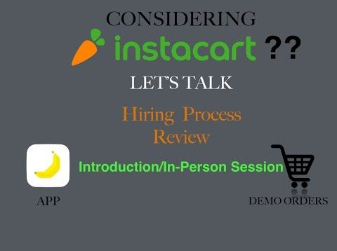 Instacart In-Person Session Review