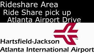 Atlanta: UBER & LYFT waiting area and passenger pick up