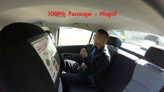 Uber/Lyft Drivers – 3000th Passenger
