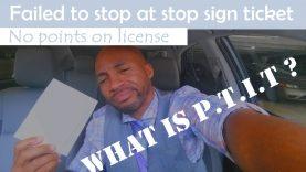 Beat my ran a stop sign ticket